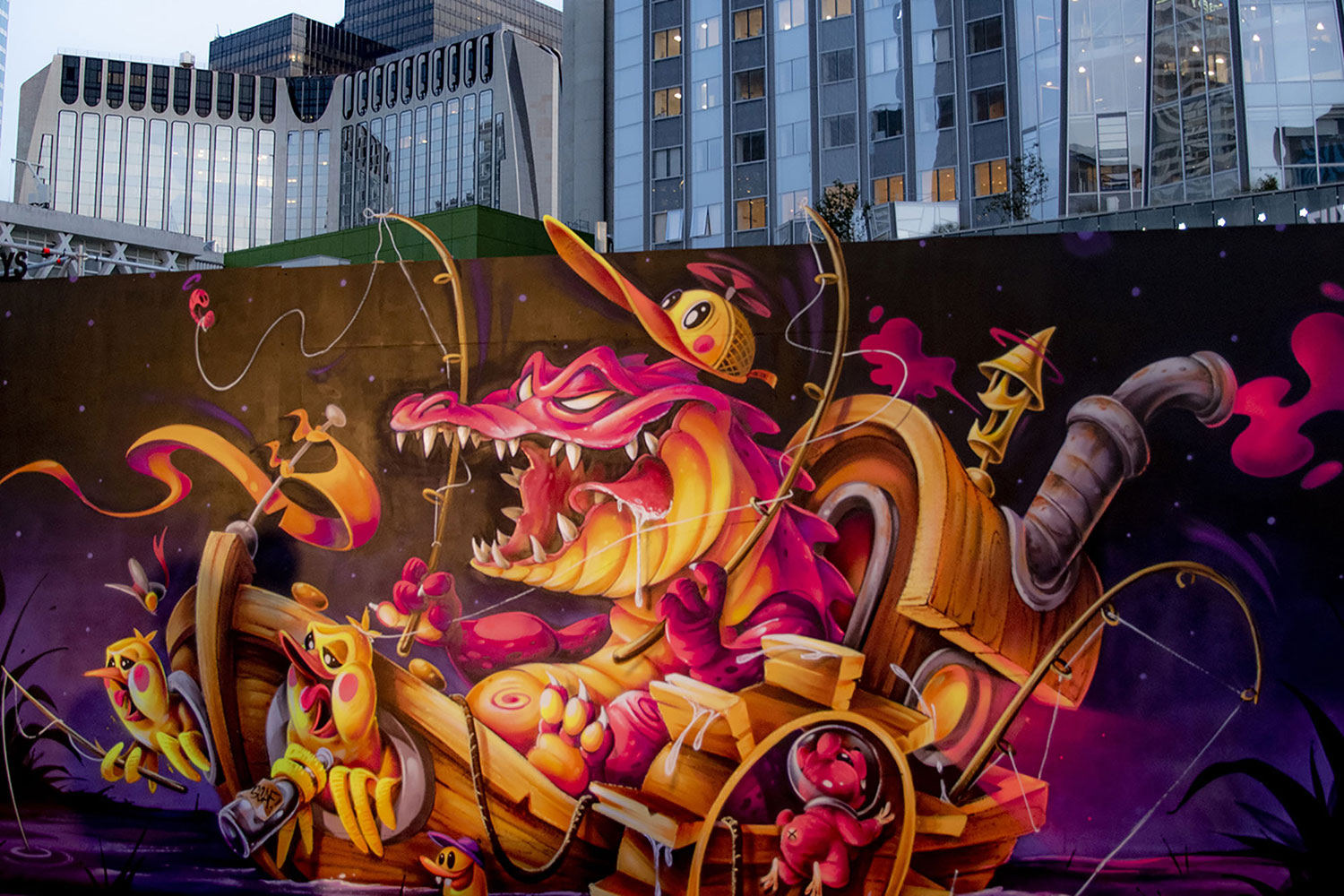 Urban Week Festival Paris La Defense, Street Art graffitti by Abys Osmoz, September 18, 2020, France, (Nos Dren).