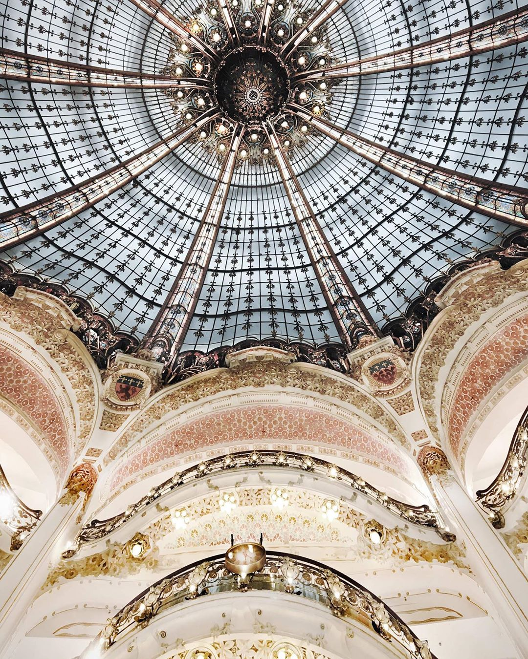 Under the dome of the Galeries Lafayette in Paris, France, very nice architecture. (Nos Dren)